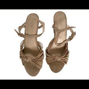 Botkier Beige Suede Sandals / Size 8.5